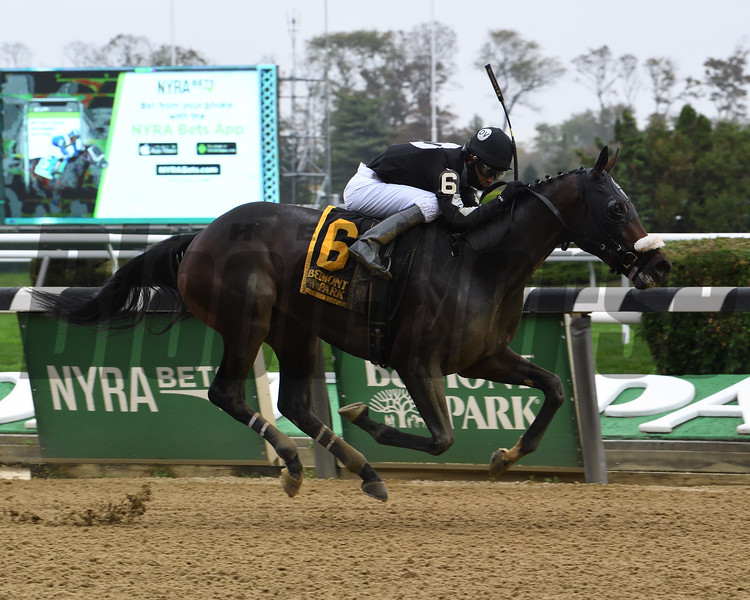 Laobanonaprayer wins the 2020 Maid of the Mist Stakes at Belmont Park<br /> Coglianese Photos/Susie Raisher