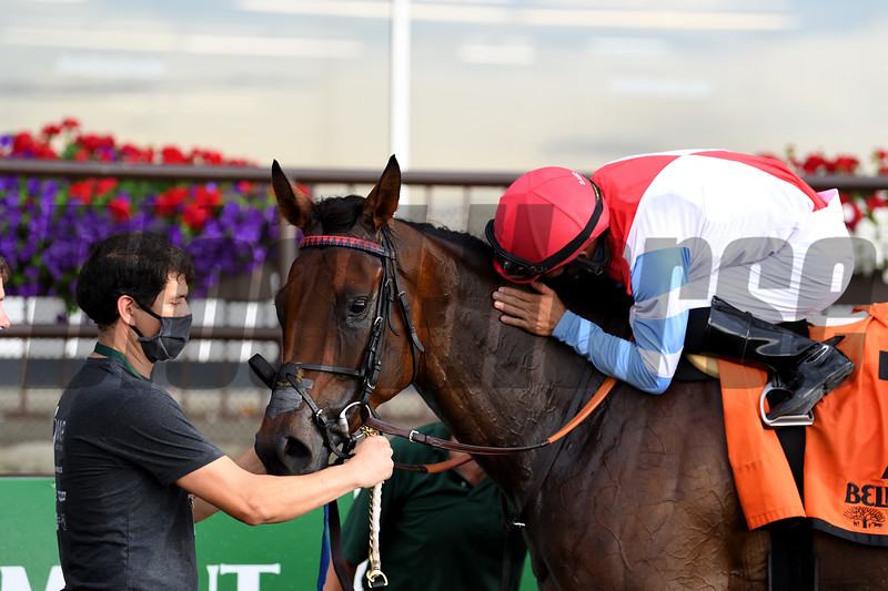Mean Mary wins the 2020 New York Stakes at Belmont Park<br /> Coglianese Photos/Susie Raisher
