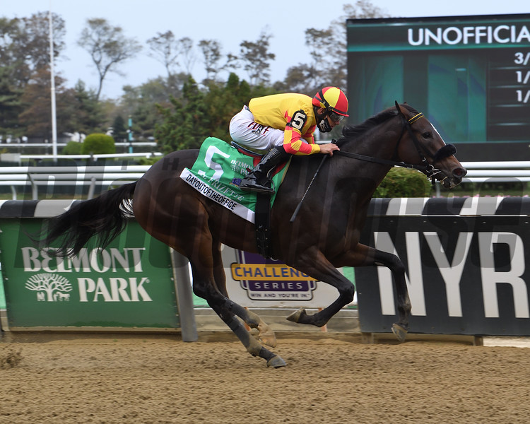 Dayoutoftheoffice wins the 2020 Frizette Stakes at Belmont Park<br /> Coglianese Photos/Susie Raisher