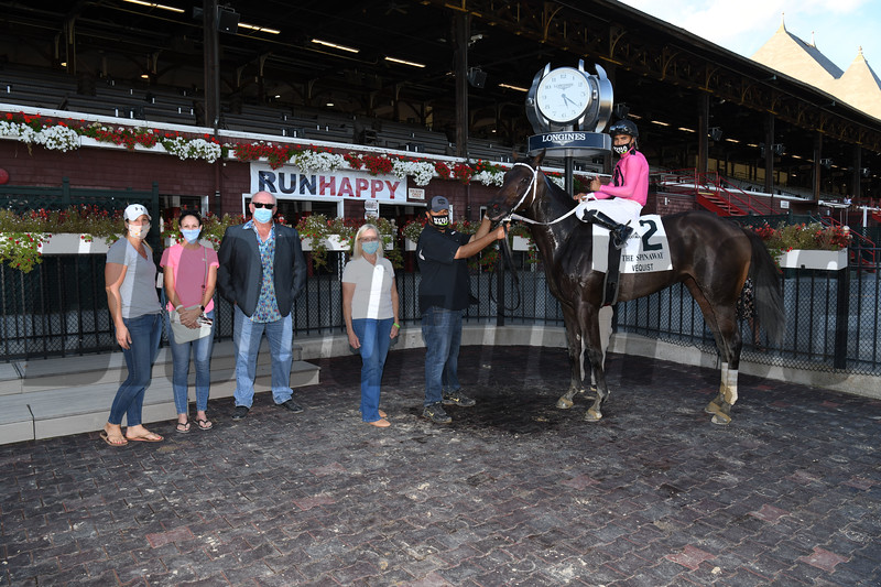 Vequist wins the 2020 Spinaway Stakes at Saratoga<br /> Coglianese Photos