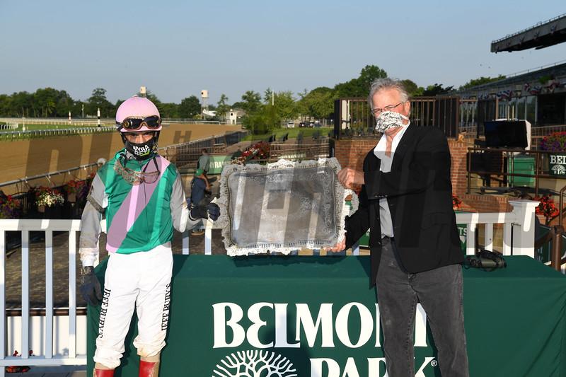 Tacitus wins the Suburban Stakes Saturday, July 4, 2020 at Belmont Park. Photo: Coglianese Photos