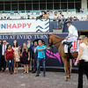 Spooky Channel withJulien Leparoux up wins the 2020W.L.Mcknight for trainer Brian Lynch and owner Terry Hamilton not shown?, 2020 Pegasus World Cup Day, Gulfstream Park. Photo: Photos by Z