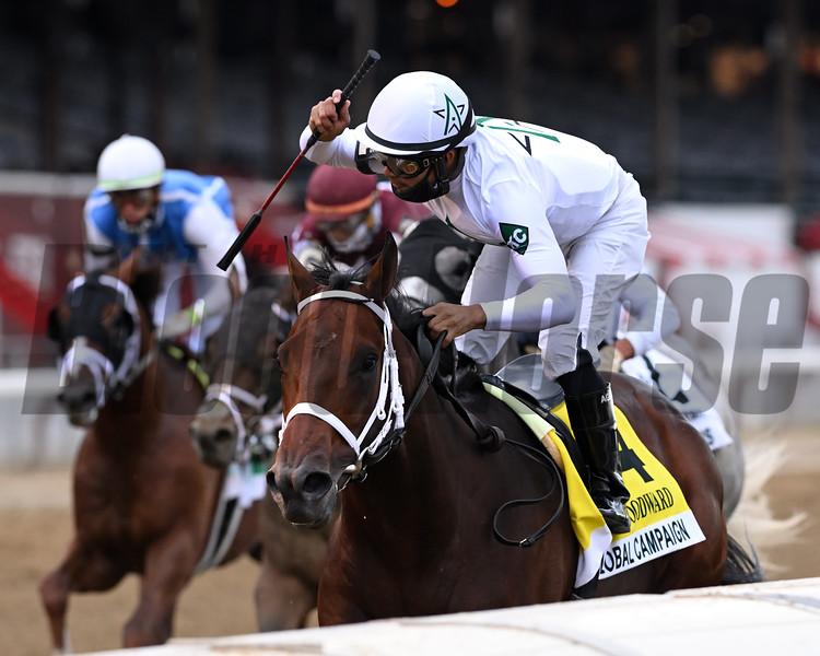 Global Campaign wins the 2020 Woodward Handicap at Saratoga<br /> Coglianese Photos/Joe Labozzetta