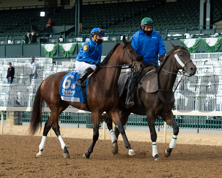 Gramercy before the Darley Alcibiades (G1) at Keeneland.<br /> Opening day of the Keeneland fall meeting on October 2, 2020.