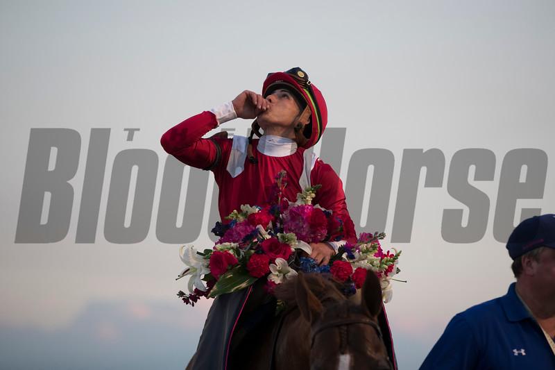 Mucho Gusto wins 2020 Pegasus World Cup Invitational at Gulfstream Park. Photo: Coglianese Photos/Ashley Blum