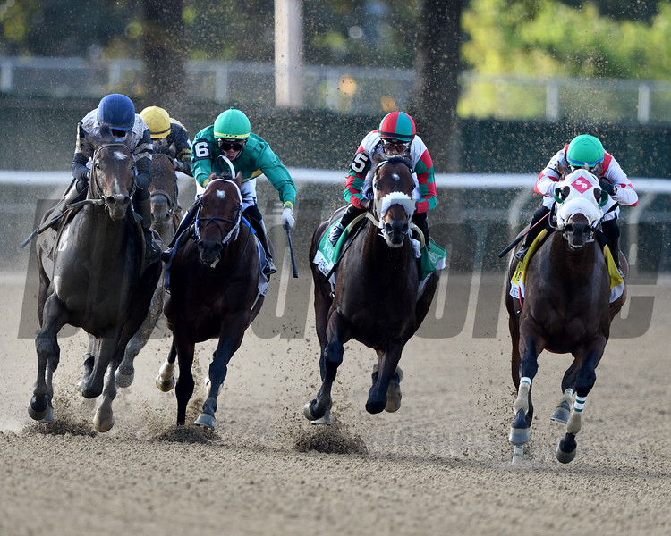 Firenze Fire wins the 2020 Vosburgh Stakes at Belmont Park<br /> Coglianese Photos/Dom Napolitano