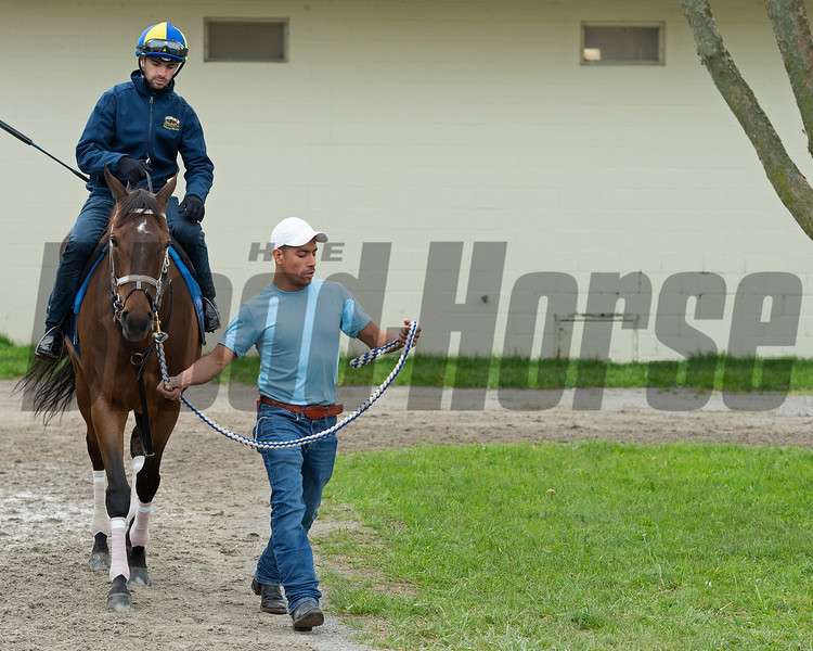 Caption: Juliet Foxtrot with Florent Geroux<br /> Keeneland scenes and horses on April 25, 2020 Keeneland in Lexington, KY.