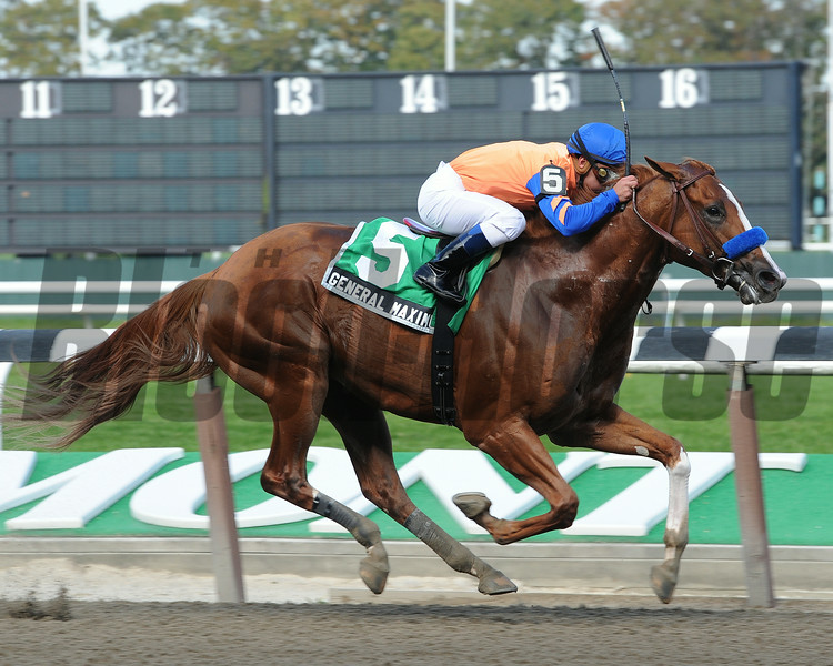 General Maximus wins The Hudson at Belmont.<br /> Coglianese Photos