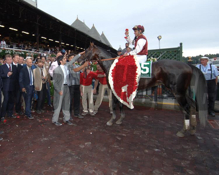 Bernardini wins the 2006 Travers Stakes<br /> Coglianese Photos