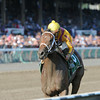 Cavorting wins the Adirondack Stakes at Saratoga 8/10/2014.<br /> Coglianese Photos/Adam Mooshian