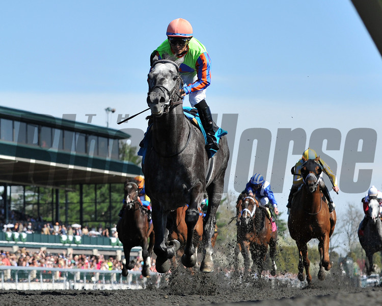 Keeneland Spring 2014; Lexington; KY; photo by Mathea Kelley, Frac Daddy, Alan Garcia up, wins the Ben Ali Stakes 4/19/14