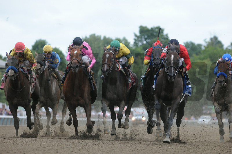 Weekend Hideaway wins the 2014 John Morrissey Stakes at Saratoga.<br /> Coglianese Photos