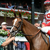 Partisan Politics wins the 2014 P. G. Johnson Stakes at Saratoga.<br /> Coglianese Photos