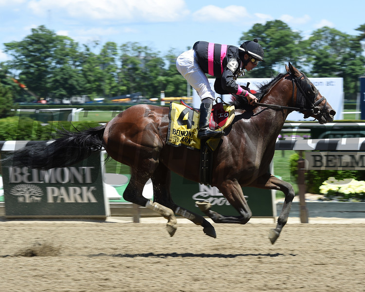 Kid Cruz wins the 2014 Easy Goer Stakes at Belmont Park.<br /> Coglianese Photos