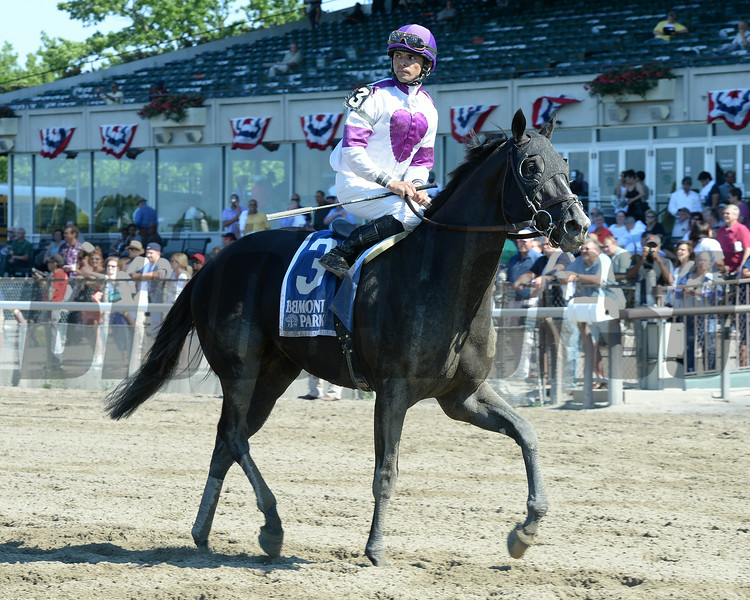 Clearly Now wins the 2014 Belmont Sprint Championship.<br /> Coglianese Photos/Chelsea Durand