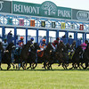 Minorette wins the 2014 Belmont Oaks.<br /> Coglianese Photos