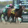 Favorite Tale wins the 2014 Gold Fever Stakes at Belmont Park.<br /> Coglianese Photos