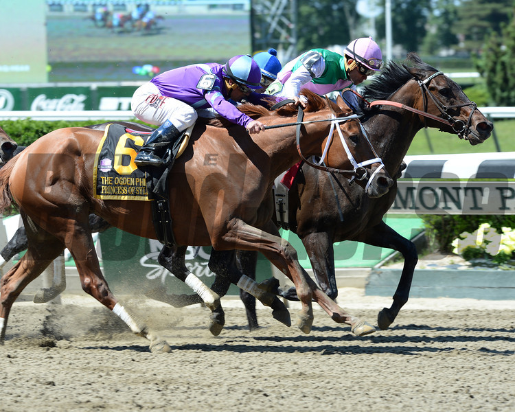 Close Hatches wins the 2014 Ogden Phipps Stakes.<br /> Coglianese Photos/Lauren King