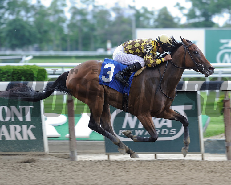 Isabelle wins the 2014 Bouwerie Stakes.<br /> Coglianese Photos/Chelsea Durand