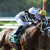 Hot Stones wins the 2014  Bed o' Roses at Belmont Park. <br /> Coglianese Photos/Joe Labozzetta