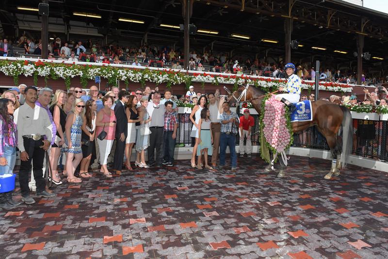 Moreno wins the 2014 Whitney Handicap at Saratoga.<br /> Coglianese Photos