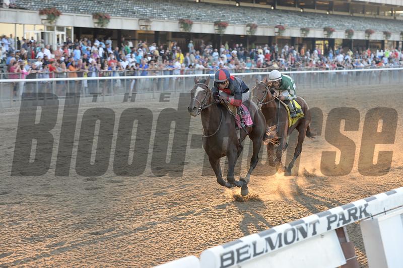 Tonalist wins the 2014 Jockey Club Gold Cup at Belmont Park.<br /> Coglianese Photos/Chelsea Durand