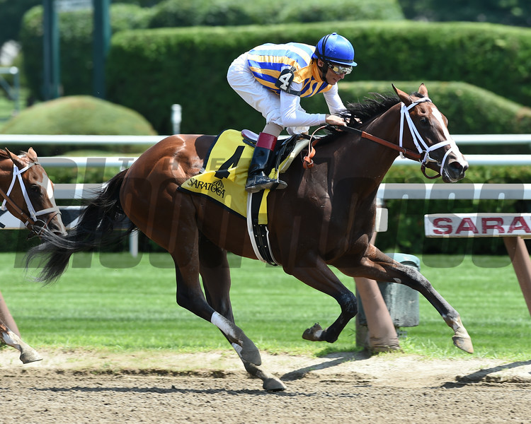 Fashion Alert wins the 2014 Schuylerville at Saratoga.<br /> Coglianese Photos