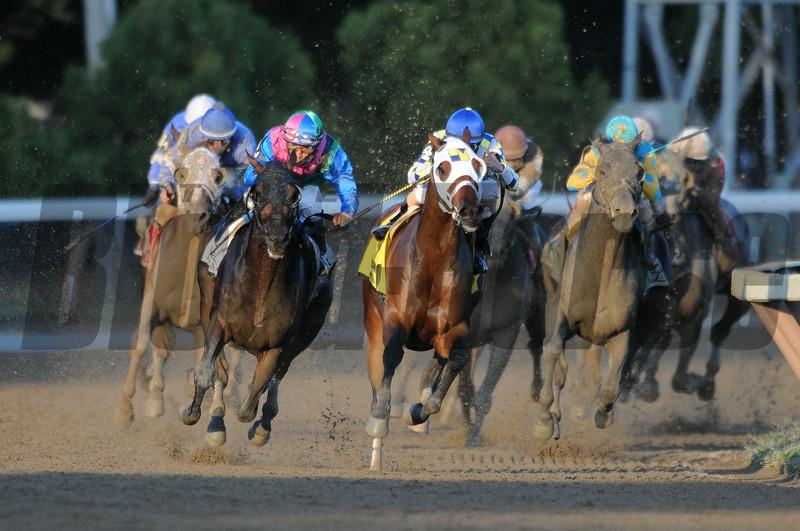 Itsmyluckyday wins the 2014 Woodward at Saratoga.<br /> Coglianese Photos