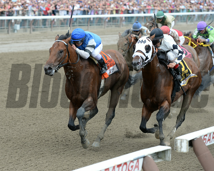 The Big Beast wins the 2014 King's Bishop at Saratoga.<br /> Coglianese Photos/Chelsea Durand