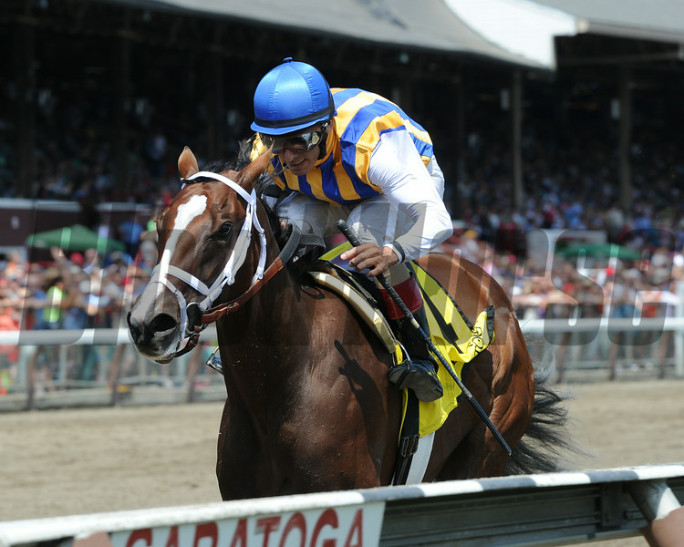 Fashion Alert wins the 2014 Schuylerville at Saratoga.<br /> Coglianese Photos/Adam Mooshian