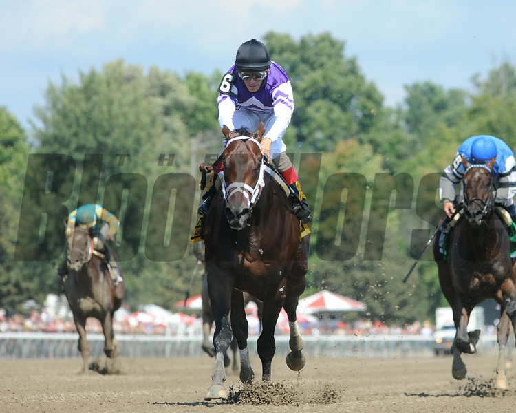 Competitive Edge wins the Hopeful Stakes at Saratoga 9/1/2014.<br /> Coglianese Photos