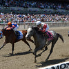 Norumbega wins the 2014 Brooklyn Invitational at Belmont Park.<br /> Coglianese Photos