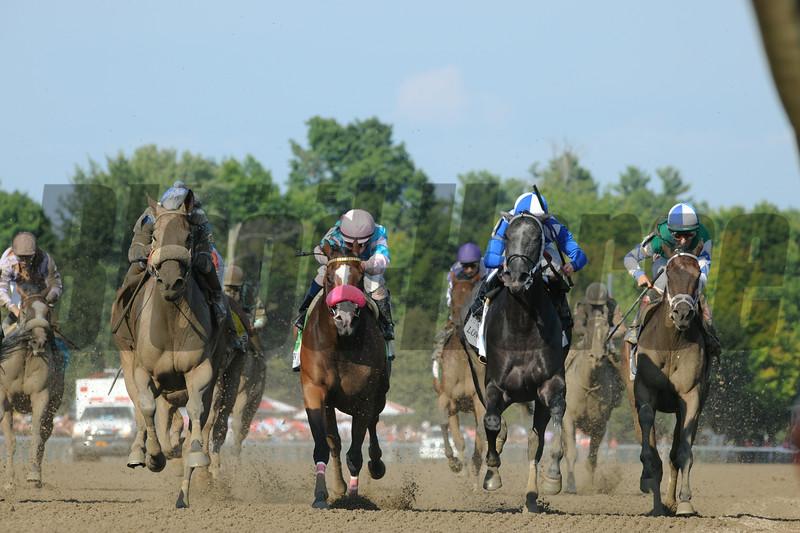 Sweet Reason wins the 2014 Test Stakes at Saratoga.<br /> Coglianese Photos
