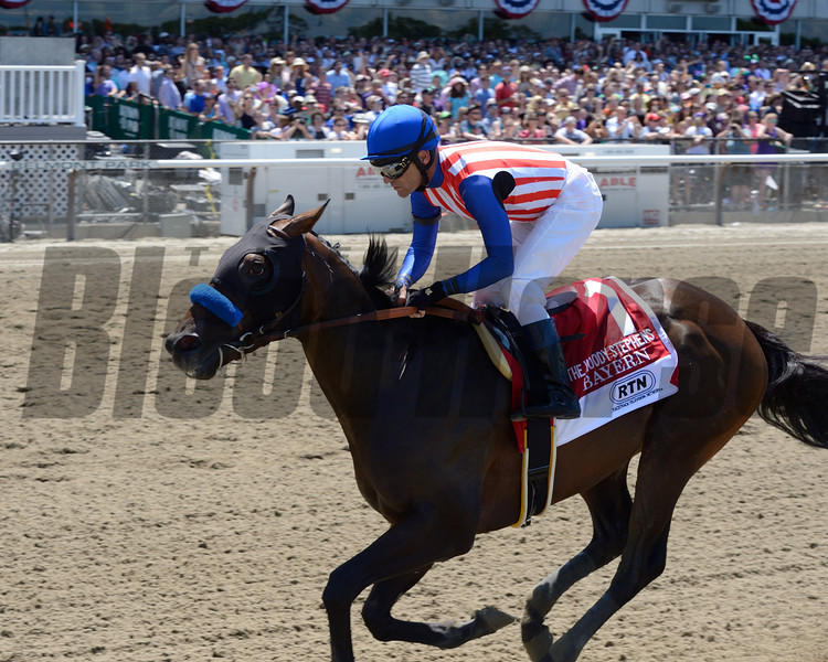 Bayern wins the 2014 Woody Stephens Stakes at Belmont Park.<br /> Coglianese Photos