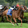 Phipps Stable homebred Abaco made an eye-catching swoop from last and prevailed in a thrilling finish with Strathnaver in the $250,000 Grade II Ballston Spa Stakes at Saratoga Race Course. <br /> Coglianese Photo