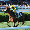 Miss Frost wins the 2014 Riskaverse at Saratoga.<br /> Coglianese Photos/Adam Mooshian