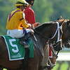 Cavorting wins the Adirondack Stakes at Saratoga 8/10/2014.<br /> Coglianese Photos/Eddie Davis