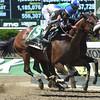 Sweet Reason wins the 2014 TVG Acorn Stakes.<br /> Coglianese Photos/Dave Alcosser