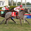 Ready to Act wins the Sweetest Chant Stakes at Gulfstream Park.<br /> Coglianese Photos/Leslie Martin