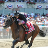 Kid Cruz wins the 2014 Dwyer Stakes at Belmont Park.<br /> Coglianese Photos/Adam Mooshian