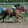 J B's Unc wins the 2014 Iron Horse Stakes.<br /> Coglianese Photos/Leslie Martin