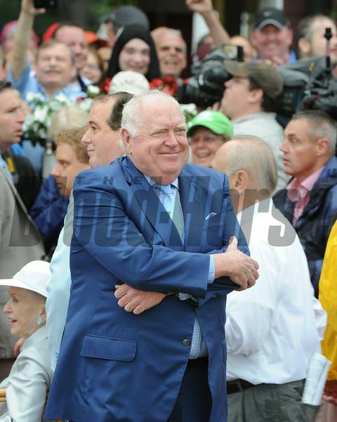 Tom Durkin's retirement ceremony following his final call at Saratoga.<br /> Coglianese Photos/Adam Mooshian