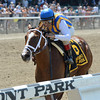 Fashion Alert wins the 2014 Astoria Stakes at Belmont Park.<br /> Coglianese Photos/Joe Labozzetta