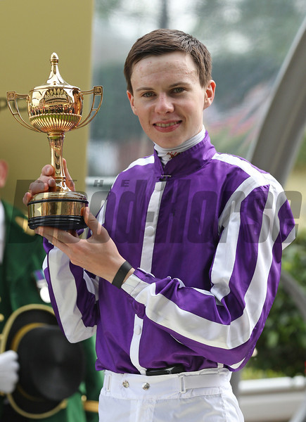 Joseph O'Brien and Leading Light win the 2014 Gold Cup at Royal Ascot.<br /> Trevor Jones Photo
