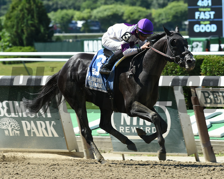 Clearly Now wins the 2014 Belmont Sprint Championship.<br /> Coglianese Photos
