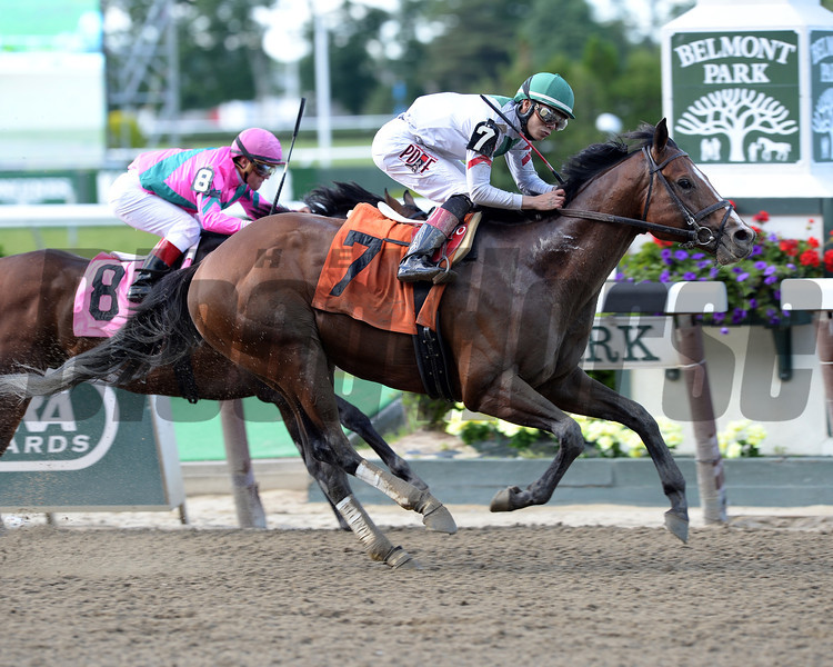 Palace wins the 2014 True North Stakes.<br /> Coglianese Photos