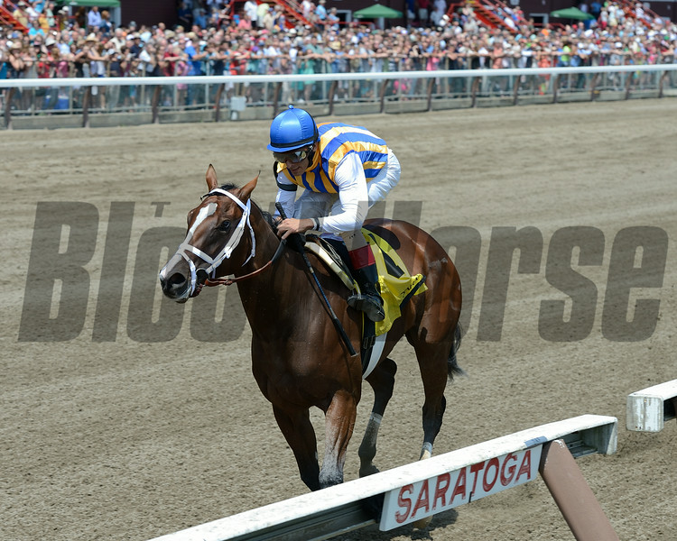 Fashion Alert wins the 2014 Schuylerville at Saratoga.<br /> Coglianese Photos/Chelsea Durand