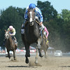 Upstart wins the Funny Cide Stakes at Saratoga 8/24/2014.<br /> Coglianese Photos/Adam Mooshian