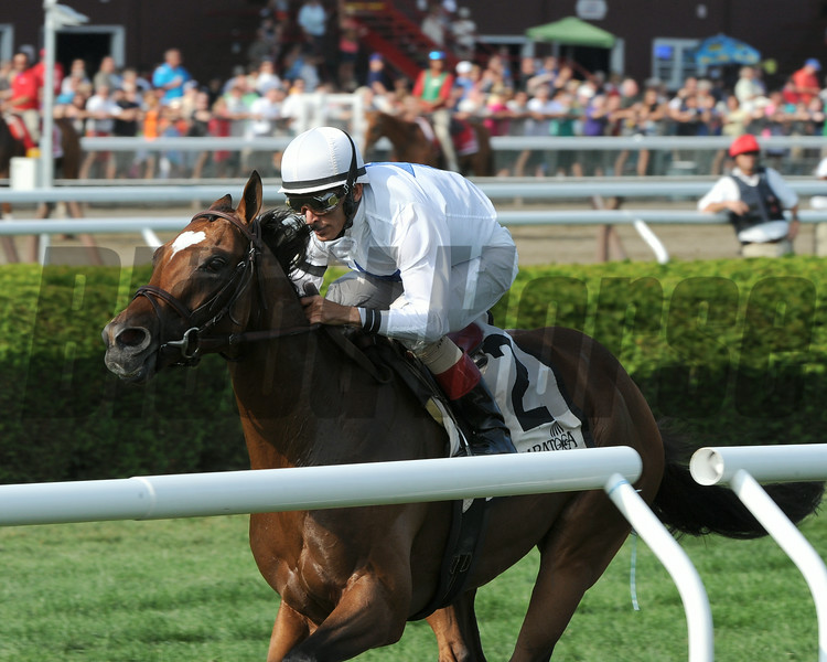 Heart to Heart wins the 2014 Better Talk Now Stakes at Saratoga.<br /> Coglianese Photos/Adam Mooshian