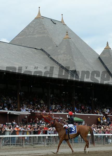 Abaco wins the 2014 Ballston Spa at Saratoga.<br /> Coglianese Photos/Chelsea Durand